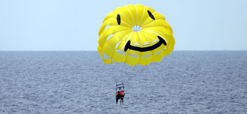 Parasailing over the Gulf of Mexico
